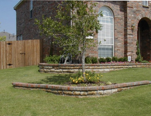 Stone Brick Flower Beds