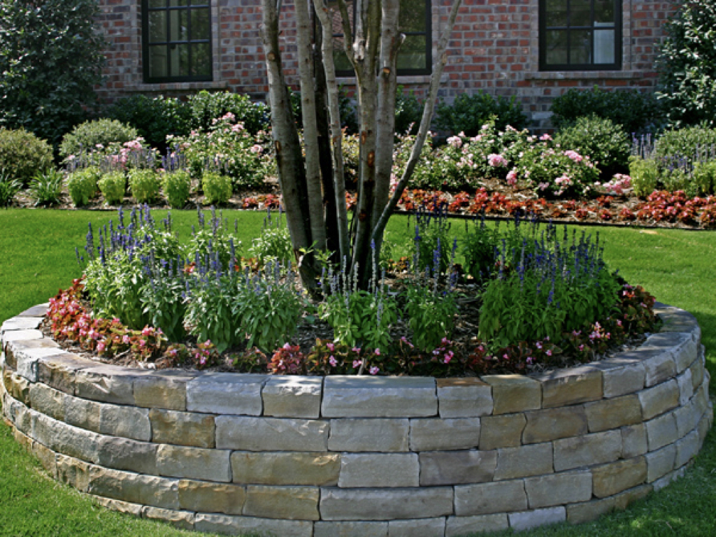 Stone Brick Flower Beds008 Green Paradise