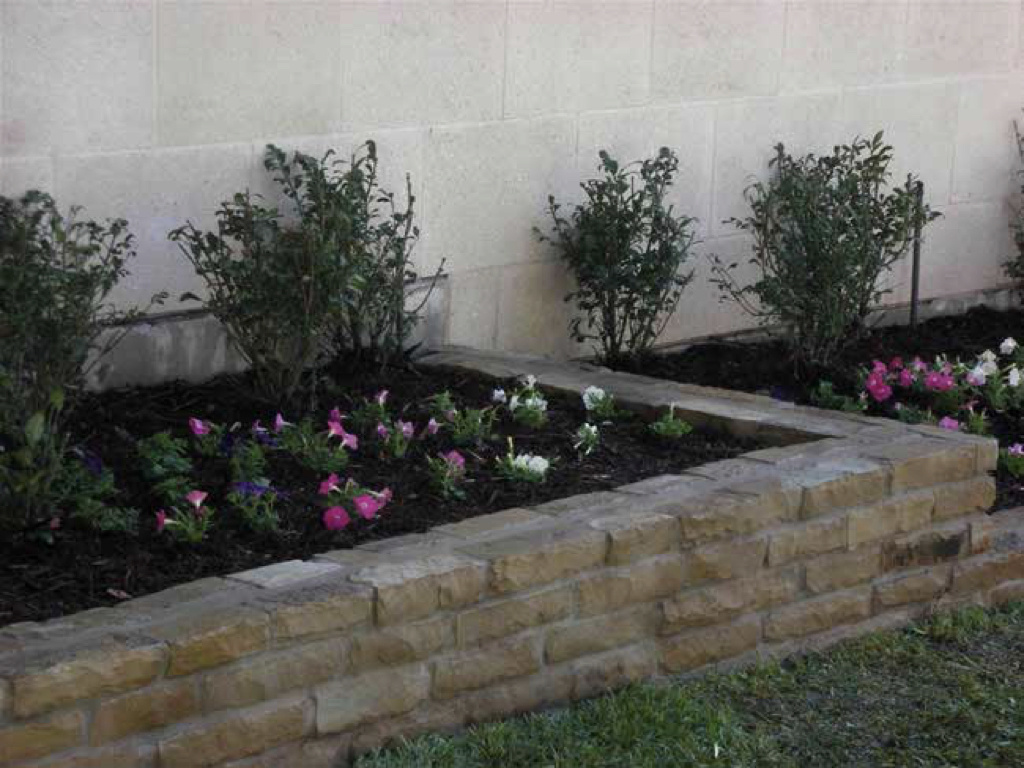 Stone Brick Flower Beds Green Paradise